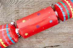 Colorful Christmas Bon Bons. A studio photo of christmas crackers Royalty Free Stock Image