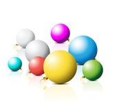 Colorful Christmas bulbs Stock Photo