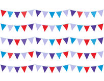 Colorful christmas bunting Stock Photo