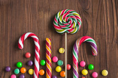 Colorful christmas candies Stock Images