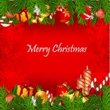 Colorful  christmas card Royalty Free Stock Photos