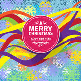 Colorful Christmas card and New Year greetings  illustration Royalty Free Stock Photo