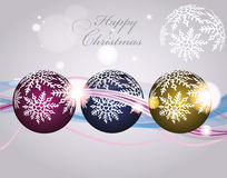 Colorful christmas card Stock Images