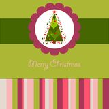 Colorful Christmas card with a tree Royalty Free Stock Photos