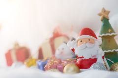 Colorful Christmas characters and decorations. Using as wallpape Stock Photography