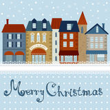 Colorful Christmas city Stock Photos