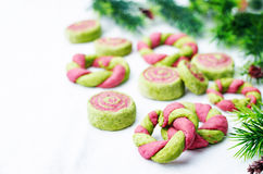 Colorful Christmas cookies Royalty Free Stock Photography