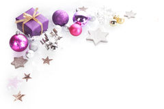 Colorful Christmas corner border background Royalty Free Stock Photography