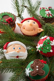Colorful Christmas cupcake Royalty Free Stock Photo