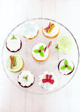 Colorful christmas  cupcakes Royalty Free Stock Image