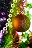 Colorful Christmas decoration. Image of a rainbow colored Christmas decoration Royalty Free Stock Photo