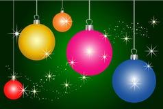 Colorful christmas decoration background Stock Photo