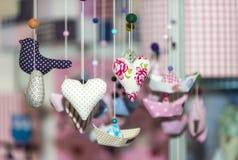Colorful christmas decoration handmade toys. Selective focus stock photos