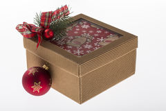 Colorful christmas decoration isolated on white Royalty Free Stock Image