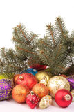 Colorful Christmas decorations Royalty Free Stock Photo