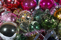 Colorful Christmas decorations Royalty Free Stock Image