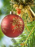 Colorful Christmas decorations closeup Royalty Free Stock Photos