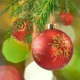 Colorful Christmas decorations closeup Royalty Free Stock Image