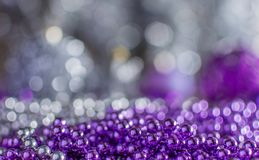 Colorful Christmas decorations with extreme shallow depth of field and colorful creamy bokeh. Art royalty free stock photo