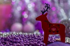 Colorful Christmas decorations with extreme shallow depth of field and colorful creamy bokeh. Art stock photos