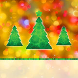 Colorful Christmas and defocused lights vector illustration