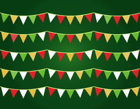 Colorful Christmas flags or bunting set Royalty Free Stock Photos