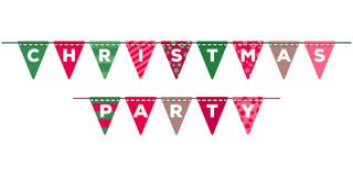 Colorful christmas flags garland decoration. Colorful christmas flags garland party decoration. New year holidays vector illustration. Good for holidays Royalty Free Stock Photos