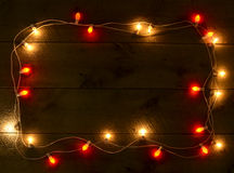 Colorful Christmas Frame. Assorted Christmas lights making a Colorful Frame Stock Image