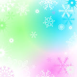 Colorful Christmas frame with snowflakes. Christmas frame with colorful spots and snowflakes, vector eps 10 royalty free illustration