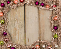 Colorful christmas frame Royalty Free Stock Image