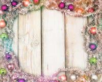 Colorful christmas frame Stock Image