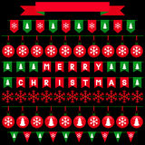 Colorful Christmas garlands for use as brushes Stock Images