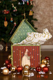 Colorful Christmas Gift Box Royalty Free Stock Photography