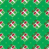 Colorful Christmas gift boxes. Holiday seamless pattern. Stock Photography