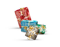 Colorful christmas  gift boxes Royalty Free Stock Images