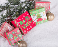 Colorful Christmas Gift Boxes Royalty Free Stock Image