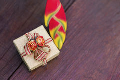 Colorful christmas gift design concept Stock Images