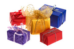 Colorful christmas gifts Stock Photos
