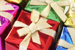 Colorful Christmas gifts Royalty Free Stock Image