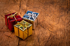 Colorful Christmas gifts Stock Image