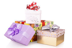 Colorful Christmas gifts Stock Photo