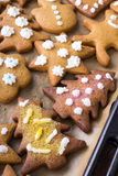 Colorful Christmas gingerbread cookies Royalty Free Stock Photo