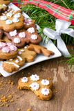 Colorful Christmas gingerbread cookies Royalty Free Stock Images