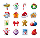 Colorful Christmas graphics royalty free illustration