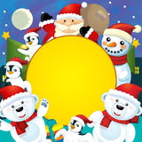 The colorful christmas - greeting card - illustration for the children Stock Images
