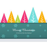Colorful christmas greeting Stock Images