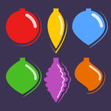 Colorful Christmas Hanging Ornaments Stock Images
