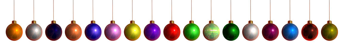 Colorful Christmas Hangings Royalty Free Stock Photo
