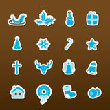 Colorful Christmas icons. Vector art Royalty Free Stock Photo