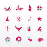 Colorful Christmas icons. Stock Photos